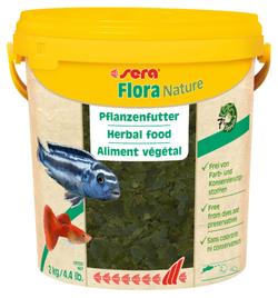 Сера Корм для рыб растительный в хлопьях FLORA NATURE 10000 мл 2 кг (ведро) (S32289)