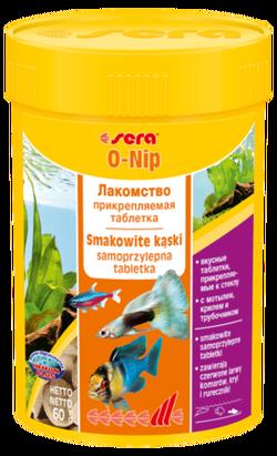 Сера Корм для рыб универсальный O-NIP  24 таблетки (клеятся на стекло) 16г  (S0420)