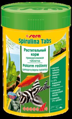 Сера Корм для рыб растительный в таблетках SPIRULINA TABS  24 таб.15г (S0920)