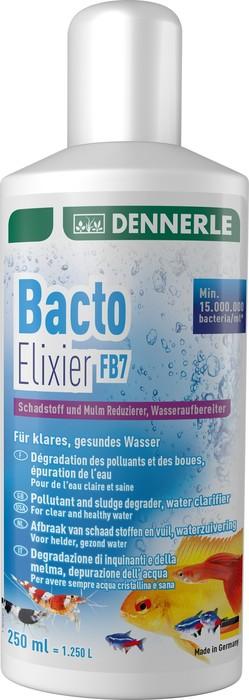 Добавка бактерий для воды Dennerle Bacto Elixier FB7 250мл, на 1250 литров
