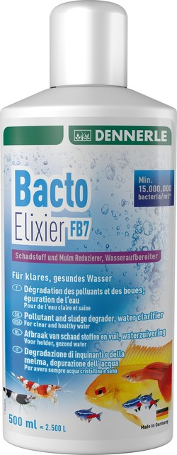 Добавка бактерий для воды Dennerle Bacto Elixier FB7 500мл, на 2500 литров