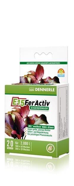 Добавка железа профессиональная высококонцентрированная DENNERLE E15 FerActiv 20 таблеток