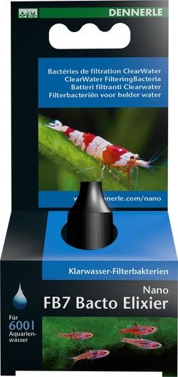 Добавка бактерий для воды для нано-аквариумов Dennerle Bacto Elixier FB7 15мл, на 600 литров