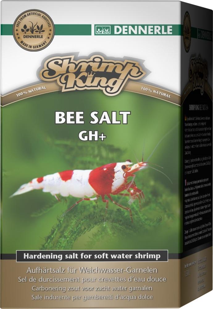 Добавка Dennerle Shrimp King Bee Salt GH+ для повышении общей жесткости в аквариумах с пресноводными креветками, 200г