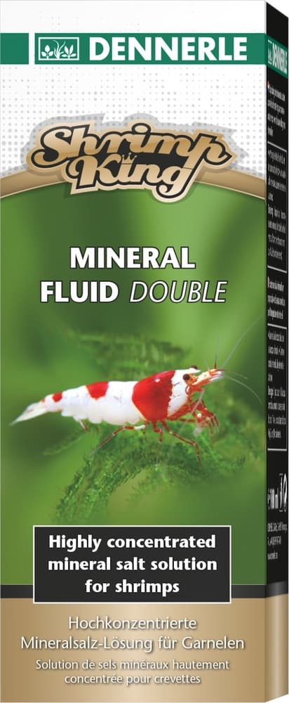 Добавка минералов Dennerle Shrimp King Mineral Fluid Double для аквариумов с пресноводными креветками, 100мл