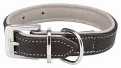 Трикси Ошейник Active Comfort, L–XL: 52–63 см/35 мм, кожа, чёрный/серый, арт.18929