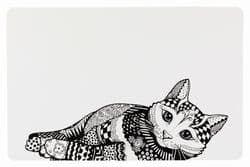 Трикси Коврик под миску, 44 × 28 см, белый/чёрный, арт. 24788