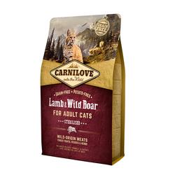 Carnilove 2кг Lamb & Wild Boar for Adult Cats Sterilised д/кастрир.котов, Ягненок и Дик.кабан 512317