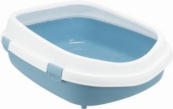Трикси Туалет для кошки Primo XXL с ободком, 56х25х71 см, синий/белый, арт.40175