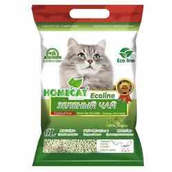 Наполнитель HOMECAT Eco Line, с ароматом зелёного чая, комкующийся 6 л (соя), арт.63018