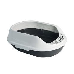 Триол Туалет P750 для кошек овальный с бортом, 430*300*150мм
