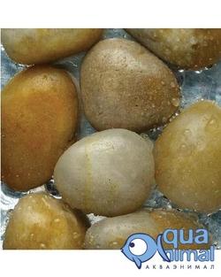 АкваГрунт Галька шлифованная 20-40мм Желтая, 1кг д/аквариума арт.2014