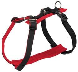 Трикси Шлейка-Y-образная Comfort Soft, L–XL: 75–120 см/30 мм, чёрный/красный, арт.16723