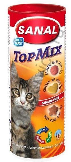 SC1045 SANAL TOPMIX Витамины д/кошек 240г (Говядина, курица, лосось)