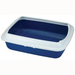 Триол Туалет CT04 для кошек прямоугольный с бортом, синий, 505*390*150мм
