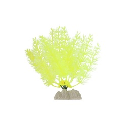 Растение пластиковое флуоресцентное желтое 13см