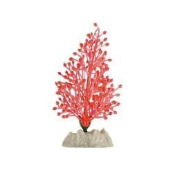 Растение пластиковое флуоресцентное оранжевое 13см