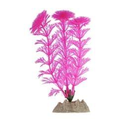 Растение пластиковое флуоресцентное розовое 13см