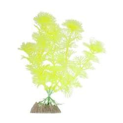 Растение пластиковое флуоресцентное желтое 15,24см