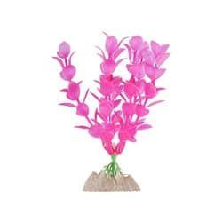 Растение пластиковое флуоресцентное розовое 15,24см