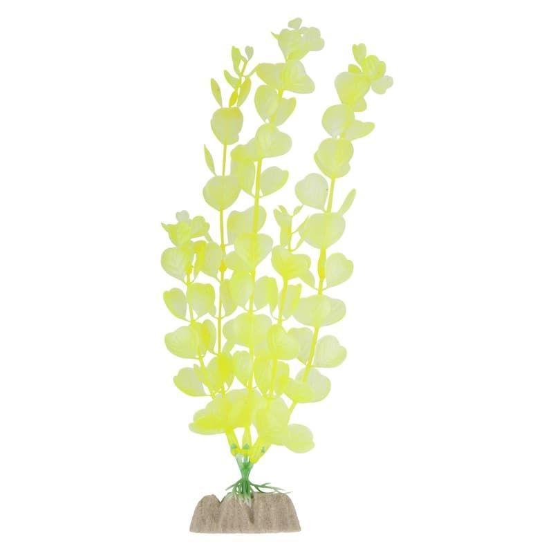 Растение пластиковое флуоресцентное желтое 20,32см