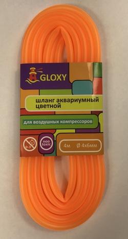 Шланг воздушный GLOXY Оранжевый 4х6мм, длина 4м