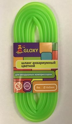 Шланг воздушный GLOXY Светло зеленый 4х6мм, длина 4м