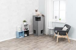 Трикси Домик для кошки Gabriel XXL, 118 см, серый, арт.44679