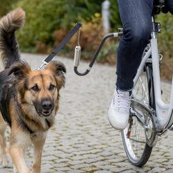 Трикси Держатель поводка к велосипеду (велоспрингер), М–XL, графит, арт.12860