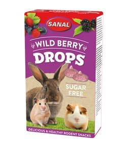 SANAL для грызунов БЕЗ сахара Wild Berry Drops sugar free 45г (Лесная Ягода)