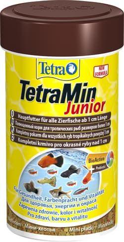 Корм для рыб TetraMin Junior мелкие хлопья 100мл