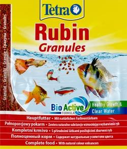 Корм для рыб TetraRubin Granules Sachet гранулы, пакет 15гр для любых видов тропических рыб
