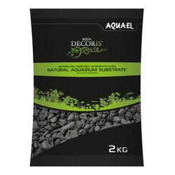 AQUAEL Грунт AQUA DECORIS  BASALT GRAVEL 2 - 4мм, 2кг (черный) -  специальный природный базальтовый грунт для аквариумов. арт.114040