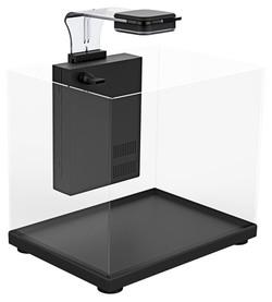 Аквариум Atman ZGT-60 черный, 75 литров, 60х33х39см (в комплекте внутренний фильтр, LED светильник, покровное стекло)