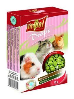 Vitapol Дропсы для грызунов и кроликов  - овощные 75 г
