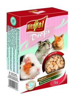 Vitapol Дропсы для грызунов и кроликов  - йогуртовые 75г