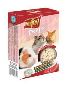 Vitapol Дропсы для грызунов и кроликов  – медово-молочные 75 г
