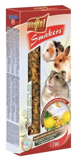 Vitapol Лакомство Smakers для грызунов и кроликов  с йогуртом и одуванчиком STANDARD 90 г