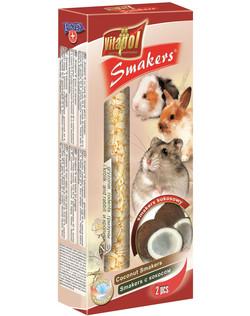 Vitapol Лакомство Smakers  для грызунов и кроликов с кокосом для грызунов и кролика STANDARD 90 г