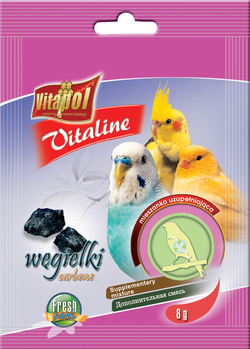 Vitapol Уголь для птиц  VITALINE  8г