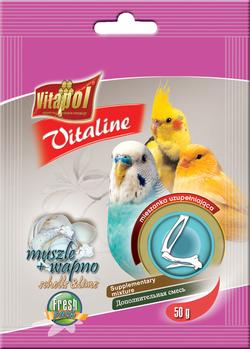 Vitapol Ракушки+кальций для птиц VITALINE  50г