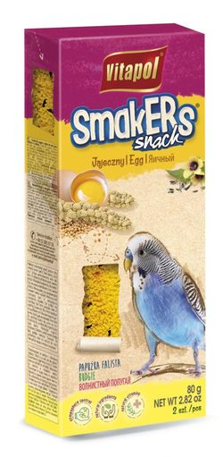 Vitapol Лакомство Smakers  яичное для волнистых попугаев STANDARD 2 по 80г