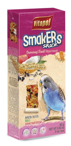 Vitapol Лакомство Smakers с фруктами для волнистых попугаев STANDARD 2 по 90г