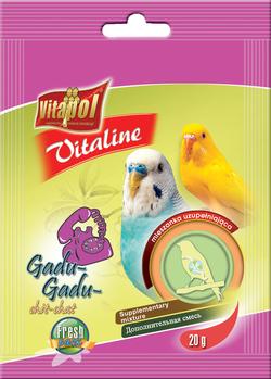 Vitapol Корм для волнистых попугаев VITALINE дополнительная смесь 20г