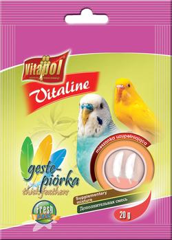 Vitapol Корм для волнистых попугаев VITALINE густые перья 20г