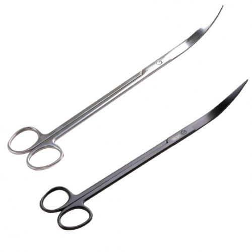 Ножницы черные профессиональные из нержавеющей стали с закругленными ножами I-547-1