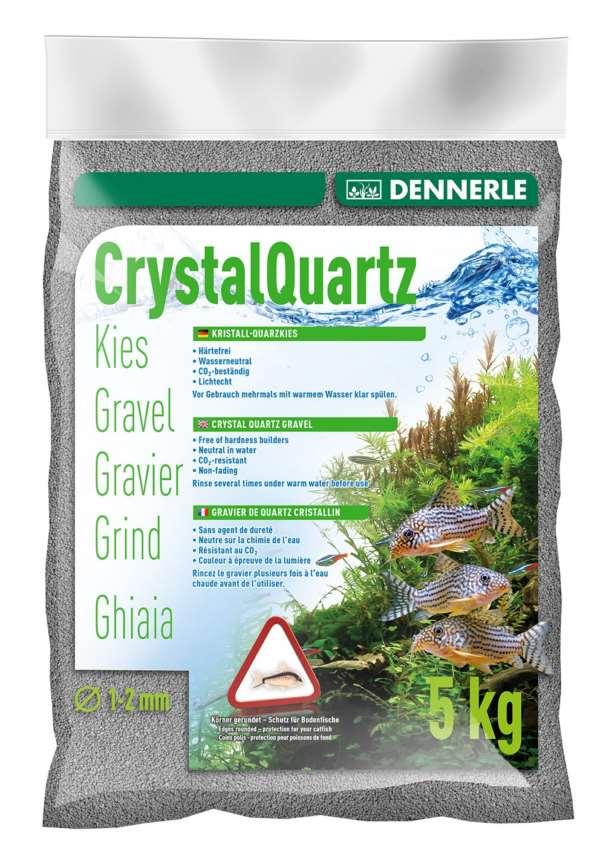 Грунт DENNERLE CRYSTAL QUARTZ, темно-серый, 1-2 мм, 5кг