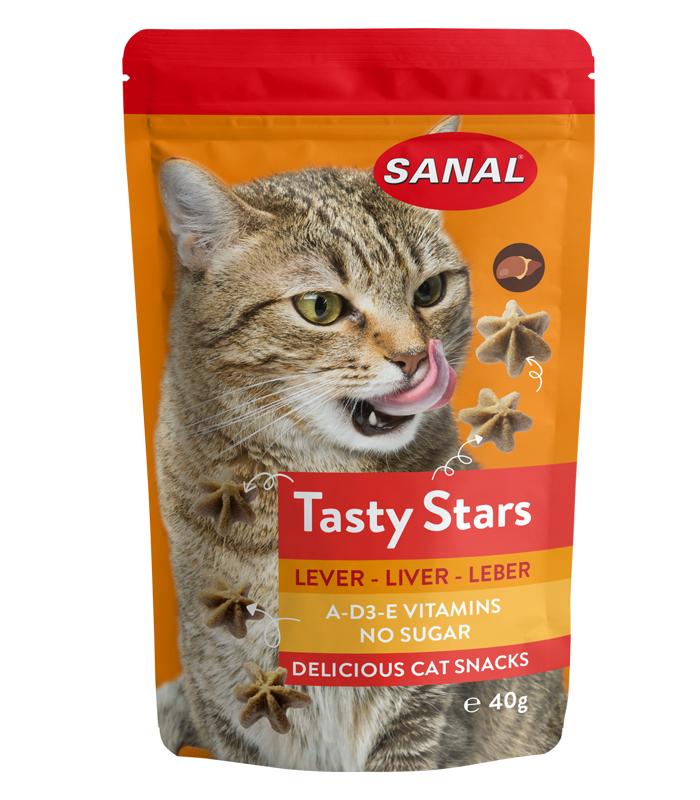 SC3880 SANAL для кошек Печень 40г Звездочки без сахара